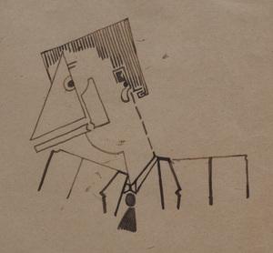 Robert Caby (b. 1918): Tête d'homme, Prosopopee sentimentale;  and La Ville