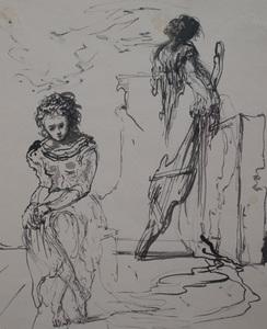 Eugene Berman (1899 - 1972): Two Figures