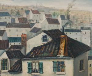 Jean Raffy Le Persan (1920 - 2008): Vue de Perigueux