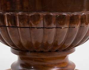 Pair of George IV Style Mahogany Urns, of Recent Manufacture