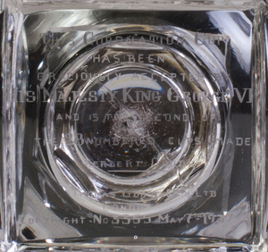 Webb Glass Engraved George V and Queen Elizabeth Coronation Coin Goblet