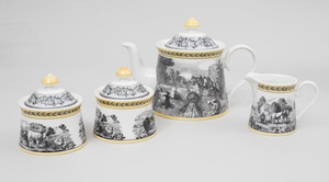 Extensive Assembled Villeroy and Boch Transfer Printed Part Dinner Service in Various 'Audun' Patterns