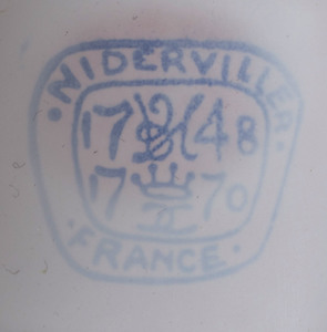 Niderville White Glazed Surtout de Table
