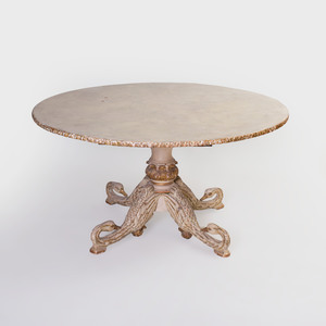 Continental Painted and Parcel-Gilt Center Table, Possibly Italian
