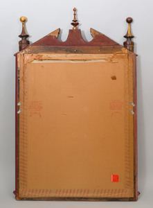 Neoclassical Style Painted and Parcel-Gilt Mirror