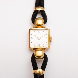 Patek Philippe 18k Gold and Suede Wristwatch