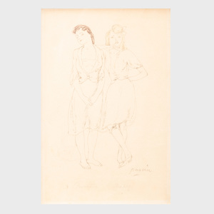 Jules Pascin (1885-1930): Bargette and Madge