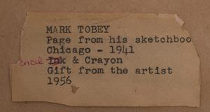 Mark Tobey (1890-1976): Chicago Market