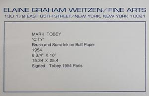 Mark Tobey (1890-1976): City