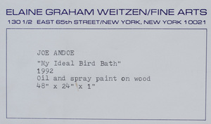 Joe Andoe (b. 1955): My Ideal Bird Bath