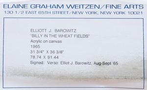 Elliott Barowitz:  Girl in Wheat Field