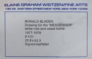Ronald Bladen (1918-1988): Drawing for Messenger