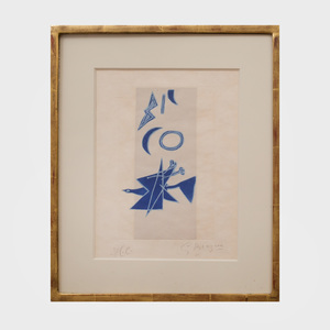 Georges Braque (1882-1963):  Untitled, from Tir à l'arc