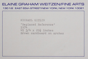 Michael Gitlin (b. 1943): Replaced Reference
