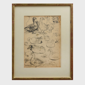 Eugene Higgins (1874-1958): Duck Studies