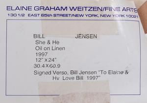 Bill Jensen (b. 1945): She + He