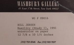 Bill Jensen (b. 1945): Humility (Study #1)