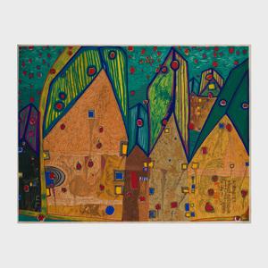 Friedensreich Stowasser Hundertwasser (1928-2000): Hänser im Blutregen