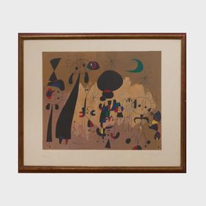 Joan Miró (1893-1983): Femme, Lune, Etoile