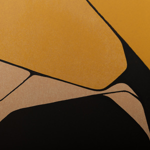 Pablo Palazuelo (1916-2007): Orange, Black: Two Impressions