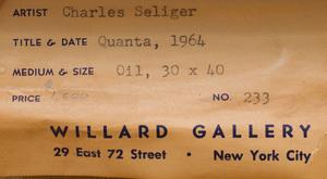 Charles Seliger (1926-2009): Quanta