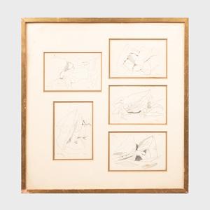 Charles Seliger (1926-2009): Rocks: Brighton, Five Studies