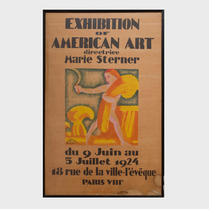 After Rockwell Kent (1882-1971): Exhibition of American Art Directrice Marie Sterner
