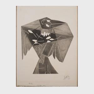 Henri Georges Adam (1904-1967): L'oiseau gris