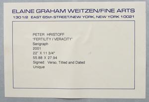 Peter Hristoff (b. 1958):  Fertility/Veracity