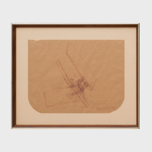 Yehiel Shemi (1922-2003): Untitled (Sculpture Sketch)