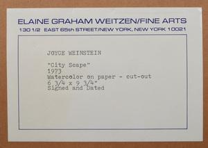 Joyce Weinstein (b. 1931): Cityscape