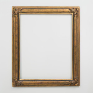 Baroque Style Ebonized and Parcel-Gilt Frame