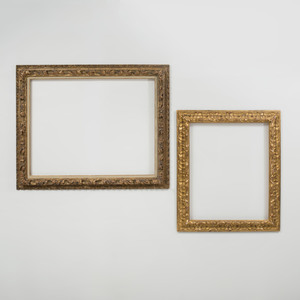 Two Baroque Style Carved Giltwood Frames