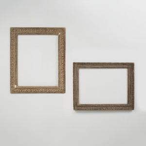 Baroque Style Carved Giltwood Frame and a Neoclassical Frame