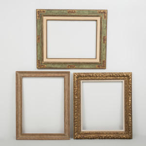 Rococo Style Giltwood Frame and Two Contemporary Frames