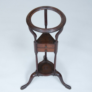A George III Style Mahogany Kettle Stand together with George III Basin Stand