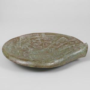 Glazed Pottery Wave Form Bowl