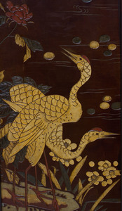 Chinese Coromandel Lacquer Eight-Panel Screen