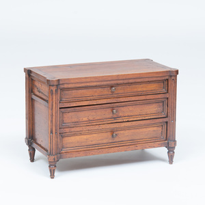Louis XVI Style Mahogany Miniature Commode