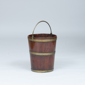 George IV Brass-Mounted Mahogany Peat Bucket