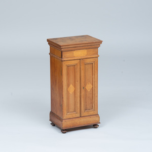 Victorian Pine and Maple Minature Armoire