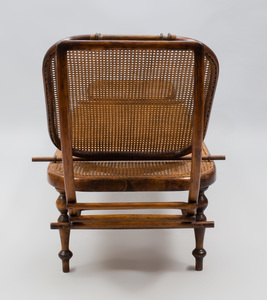 Thonet Bentwood, Oak and Caned Chaise Lounge