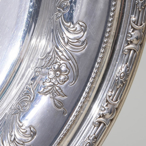 Gorham Silver Dish and an American Silver Tray