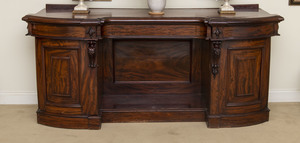 Victorian Mahogany Sideboard and a Victorian Carved Mahogany Mirror