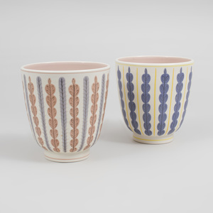 Pair of Poole Porcelain Similarly Decorated Bowls