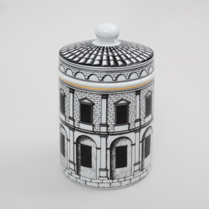 Group of Piero Fornasetti Transfer Printed Porcelain Tea and Coffee Wares in the 'Palladiana' Pattern, for Rosenthal