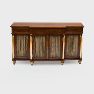 Regency Rosewood, Ebonized and Parcel-Gilt Sideboard