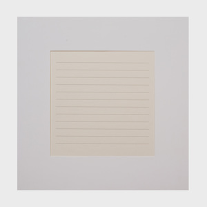 Agnes Martin (1912-2004): Untitled