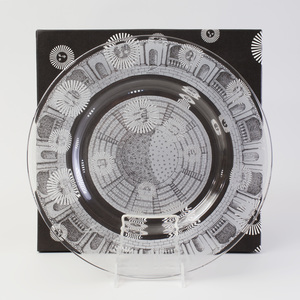 Piero Fornasetti Etched Glass Charger in the 'Palladiana' Pattern