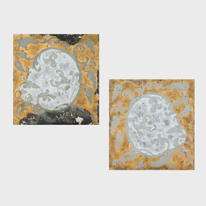 Pair of Verre Églomisé Panels